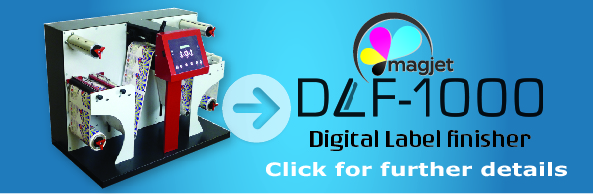 DLF-1000 Digital Label Finisher, the perfect solution for laminating and cutting labels to any size or shape