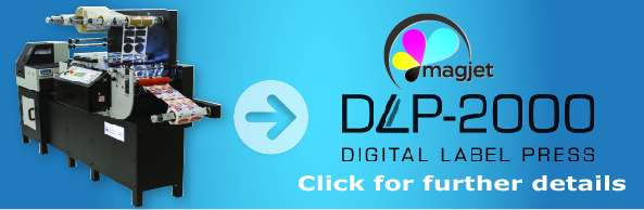 DLP-2000 Digital Label Press, memjet technology that prints, laminates, cut and slit any quantity of labels
